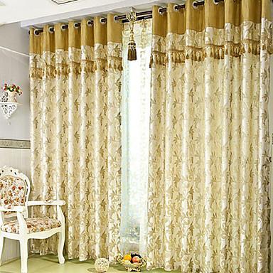 Cortinas: cortinas dos paneles doradas