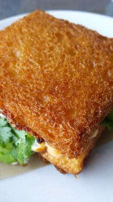 Son of a Gun, Shrimp Toast Sandwich with herbs, sriracha mayo