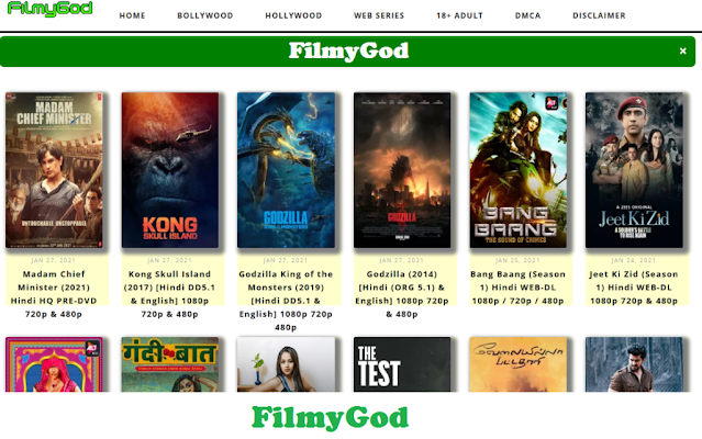 Filmygod 2021- illegal movies downloading website