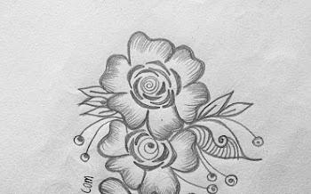 Long Motif beautiful design for Tattoo | Pencil Mehndi Drawing and Shading