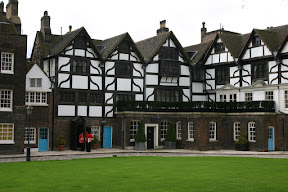 Tudor houses in the Tower of London