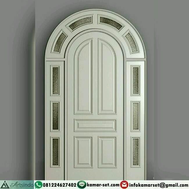 pintu minimalis bulat di atasnya