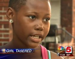 12-year old girl tasered by a police officer
