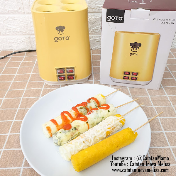 Review GOTO Egg Roll Maker Costel 4 lubang