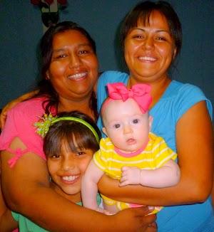 Marlene, her mother (Jasmine), Ivon, and Karina (at 6 months)