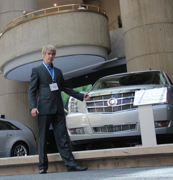 Alex Lesli At General Motors Auto Show, Alex Lesley