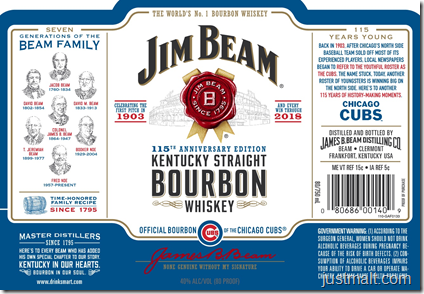 Jim Beam 2018 Baseball Season Edition (Braves, Mets, Cubs)