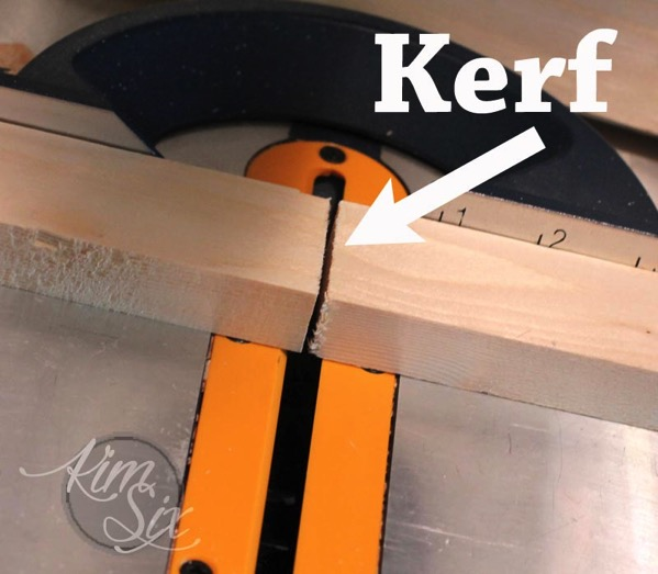 Kerf when cutting boards