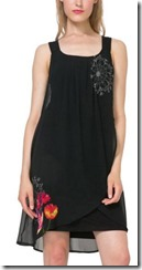 Desigual black double layer dress