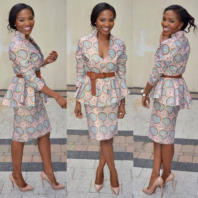 AMAZING OFFICE GOWN STYLES FOR NIGERIAN LADIES IN 2019 2