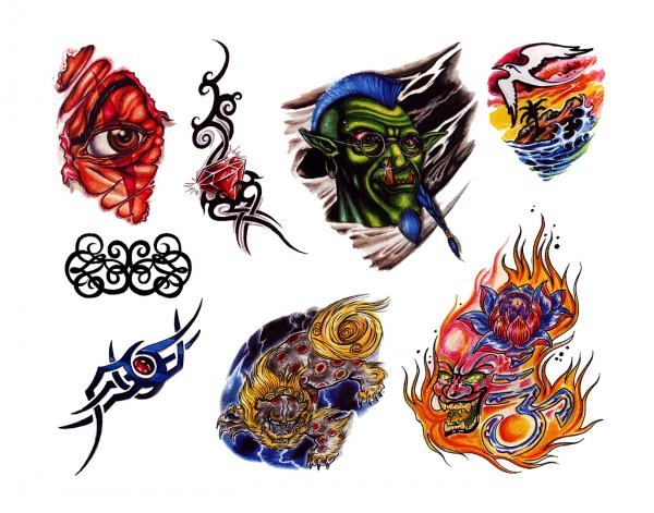 Horror Tattoo Design 8, Fantasy Tattoo Designs