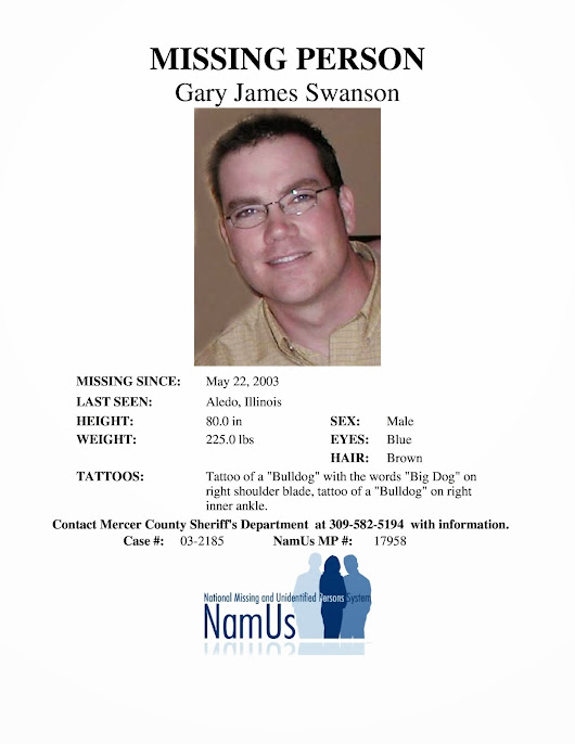 Gary Swanson Endangered Missing Adult 5/22/03 Aledo IL http://www ...