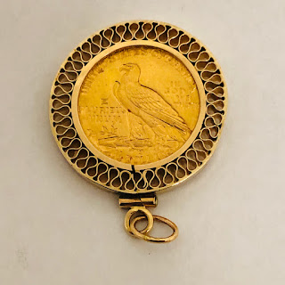 $2.50 Indian Head .99 Gold Coin Pendant