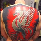 liverpool badge tattoo men full back - Back Tattoos Designs