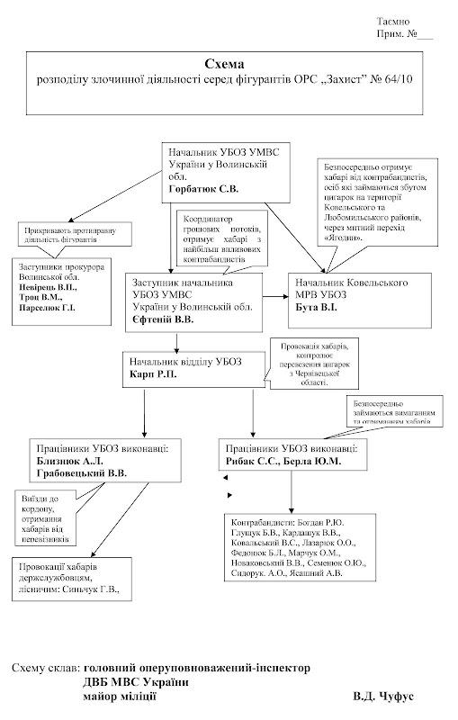 Схема справи №64/10 «Захист»