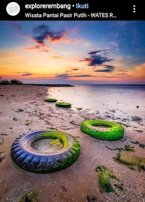 Pantai pasir putih wates rembang