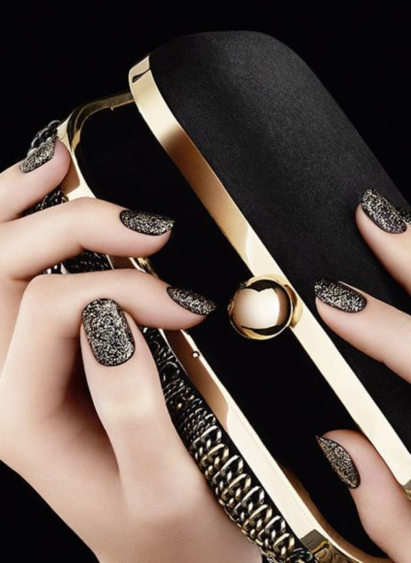 Cute Black Nail Ideas And Polish Designs 7
