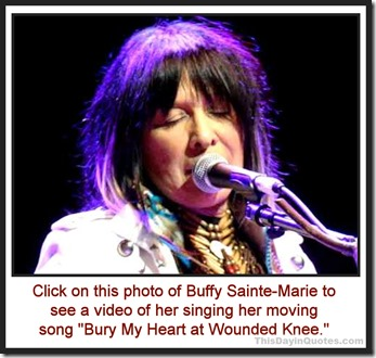 Buffy Sainte-Marie singing