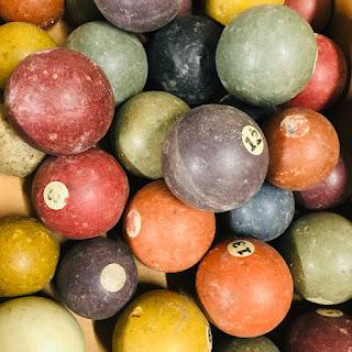 Antique Clay Billiard Ball Lot