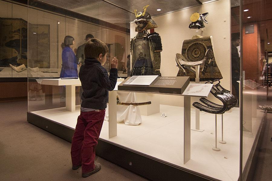 Sala oriental de Japón en el Museo Británico de Londres