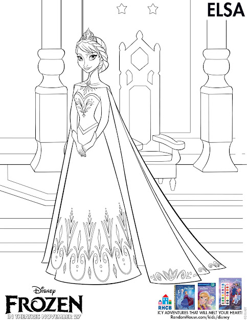 Disney Frozen Elsa Coloring Sheet Printable