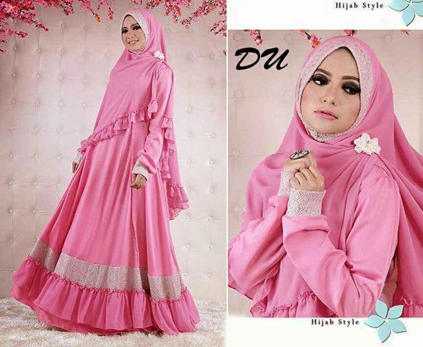 Baju Gamis Muslim Terbaru Syari Edisi Black Baju Gamis Modern