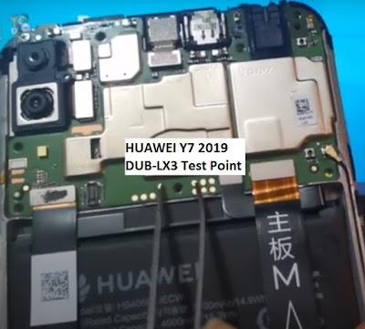 Huawei Y7 2019 DUB LX3 Test Point  | Huawei Y7 2019 DUB LX3 EDL Mode