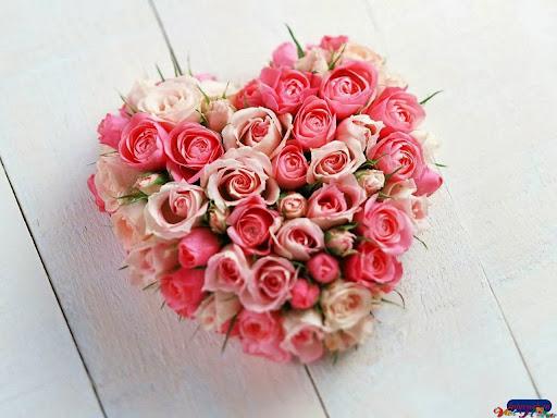 Trái tim hoa hồng cho ngày lễ tình nhân
