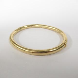 14K Gold Tubular Bracelet