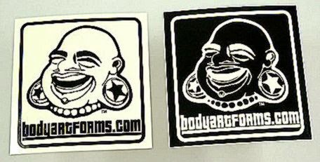 BAF glow in the dark sticker