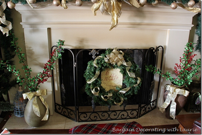 Christmas Decor on Hearth