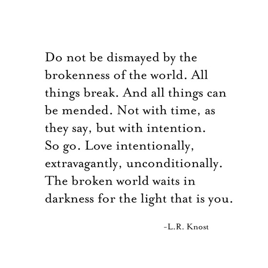 intention -- l.r. knost