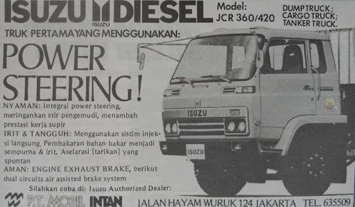 Iklan Jadul, Jadul, Truck, Truck Jadul, Isuzu JCR