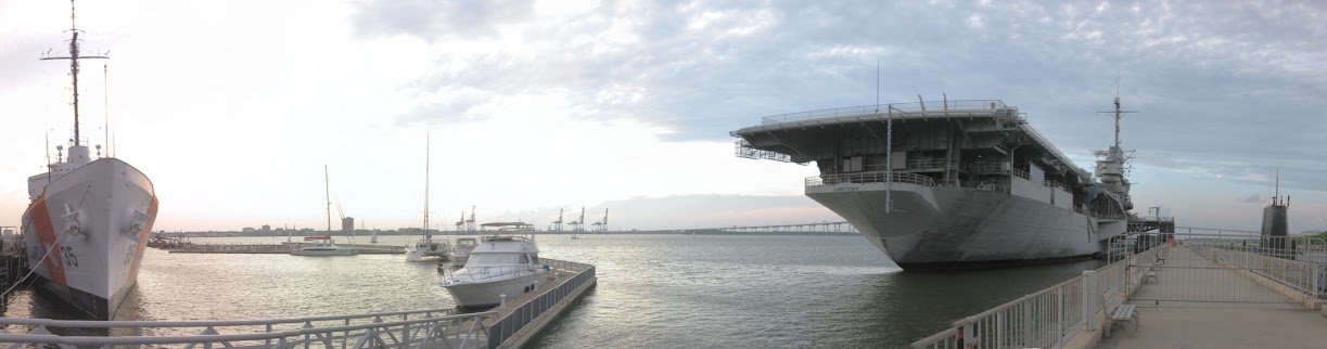 Charleston Harbor - USS Yorktown