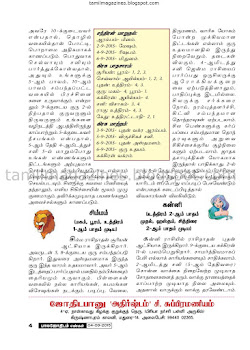 Tamil Raasi Palan this Week