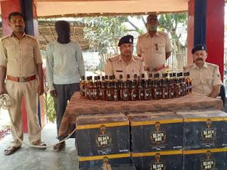 SAHARSA NEWS: 112 कार्टन विदेशी शराब बरामद, एक गिरफ्तार