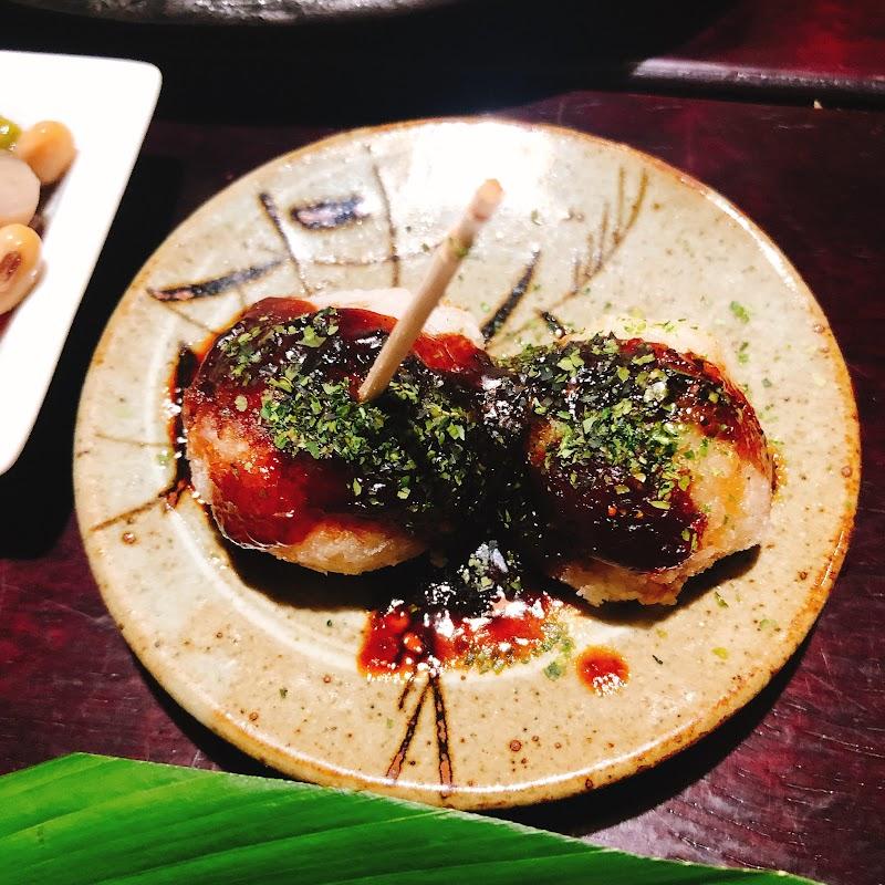 里芋をたこ焼き風にした創作料理が美味しい