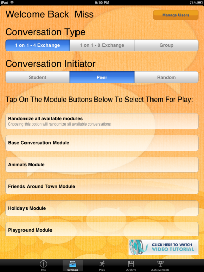Conversation Builder Menu