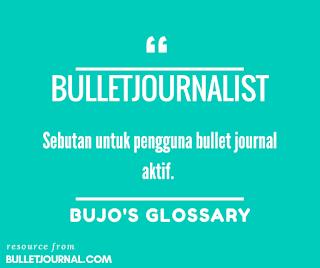 bullet journalist adalah