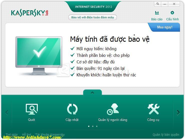 Kaspersky Internet Security 2012 screenshot