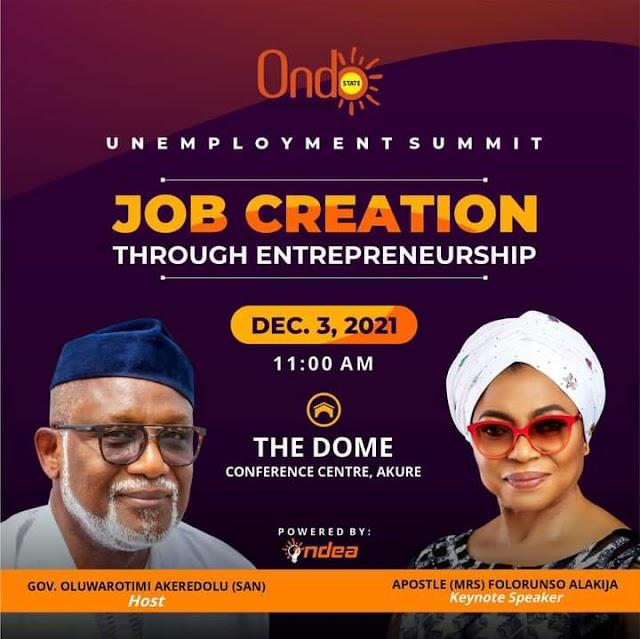 Ondo Holds Unemployment Summit December ~Omonaijablog