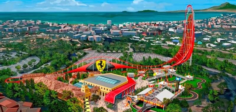 Construcción Ferrari Land PortAventura
