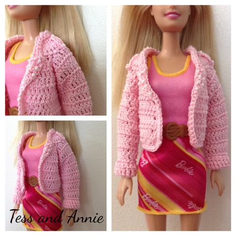 Tess And Annie Free Crochet Pattern Preview Barbie Biker Jacket