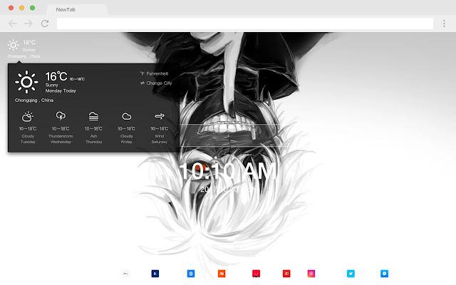 Anime 4K New Tab Page HD Hot Animated Theme