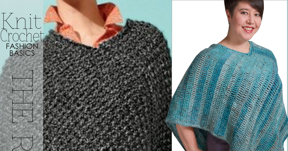 Knitting Poncho With Two Rectangles : Diaryofacreativefanatic