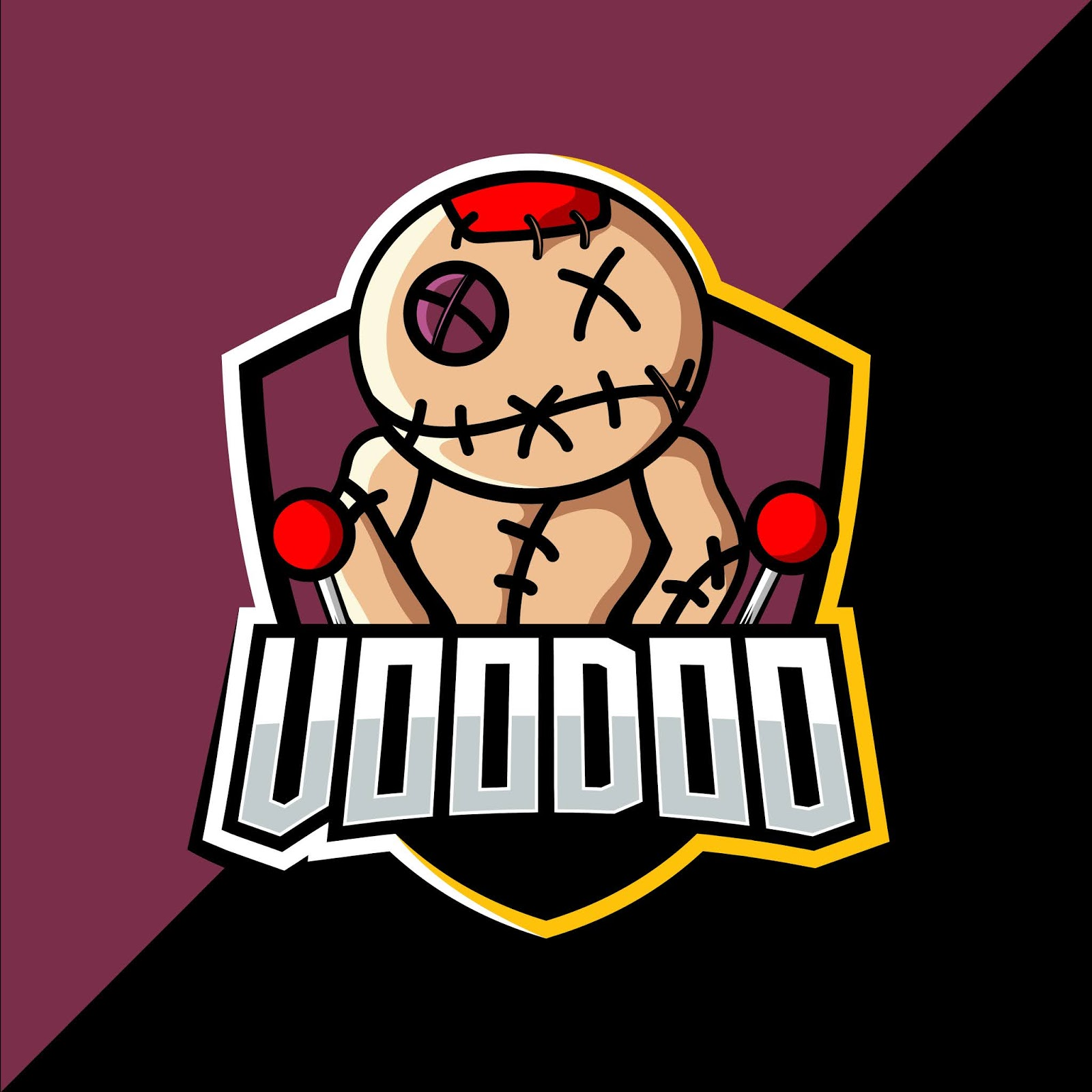 Voodoo Esport Mascot Logo Design Free Download Vector CDR, AI, EPS and PNG Formats