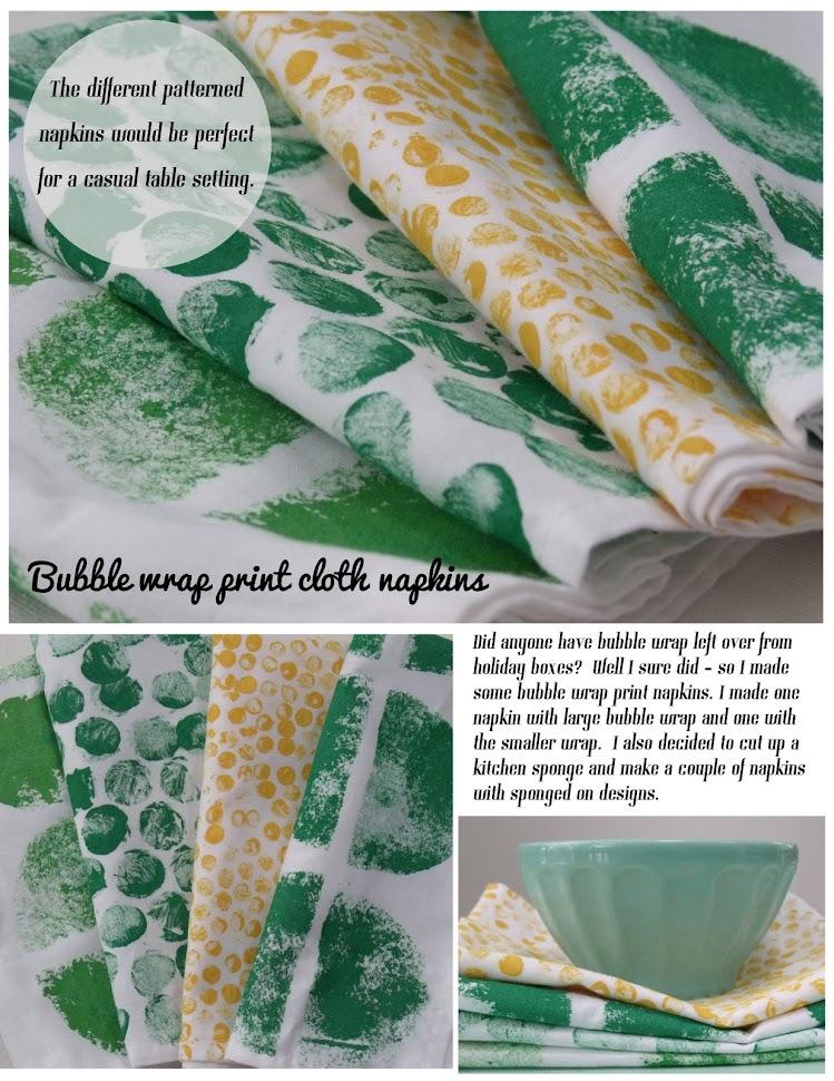 Pinecone Bubble Wrap Print Napkins Diy