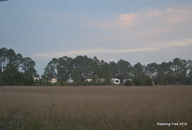Looking back at the RV Park