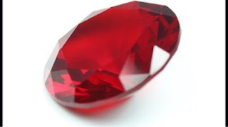 Glass Gemstones Ruby colored stones suppliers