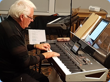 Rod Moffat provided the arrival music on his Korg Pa4X